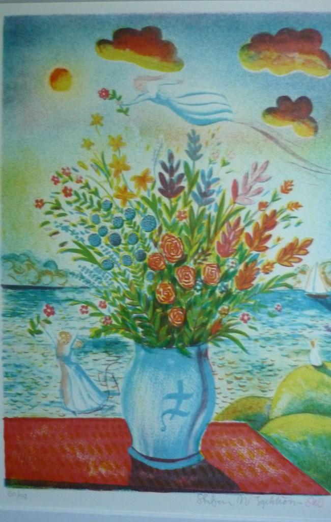 Stefan Igelstrøm blomster 46×65 1000 kr #29